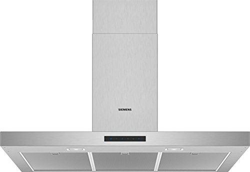 Siemens iQ300 LC96BBM50 - Hotte - hotte décorative - largeur : 90 cm - profondeur : 50 cm - extraction et recirculation (avec kit de recirculation supplémentaire) - acier inoxydable