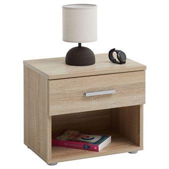 avec 1 décor MAELtable Table nuit mélaminé casier et chêne de nicheen de chevet 1 tiroir sonoma dexrCBoW