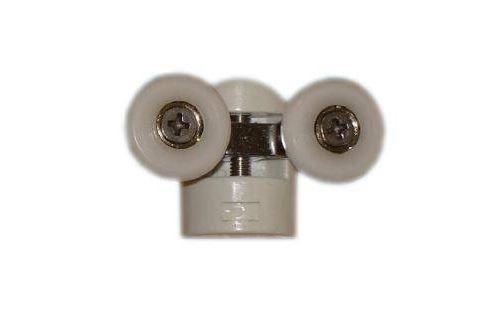 Double roulette pour verre 6mm L.58mm Kinedo référence ROU12-A.