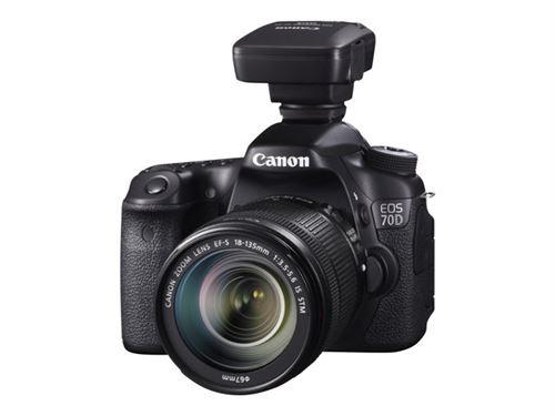 Canon EOS 70D - Appareil photo numérique - Reflex - 20.2 MP - APS-C - 1080p - 3x zoom optique objectif EF-S 18-55 mm IS STM - Wi-Fi