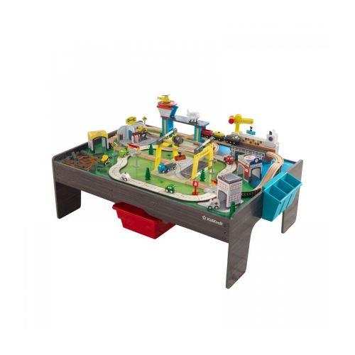 Ensemble table et circuit en bois My Own City