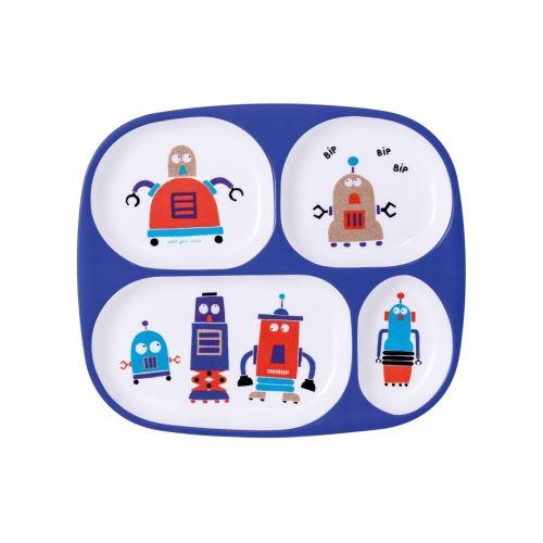 Plateau à 4 Compartiments Scintillant Les Robots Petit Jour Paris
