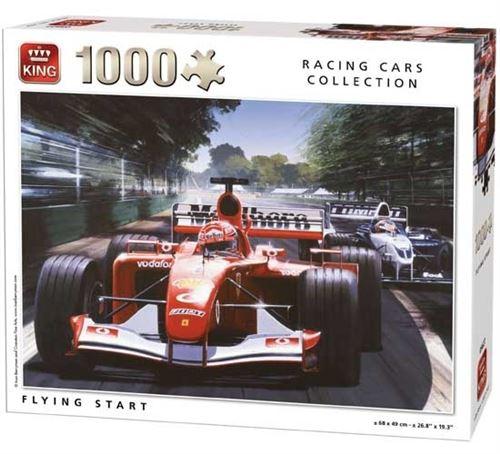 Puzzle 1000 pièces racing cars collection : course de formule 1 king puzzles