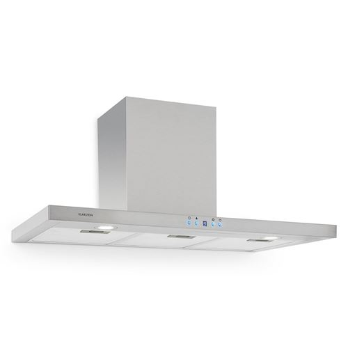 Klarstein RC90WS - Hotte - hotte décorative - largeur : 90 cm - profondeur : 50 cm - evacuation & recyclage - inox brossé