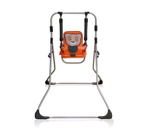 Balancelle berceau transat chaise haute 12m+ bébé enfant - Samba Plus 4en1   Tigre orange / Cadre argent