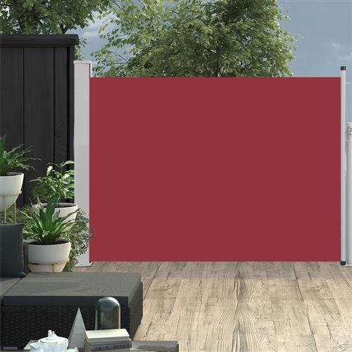 Auvent latéral rétractable de patio 100x500 cm Rouge