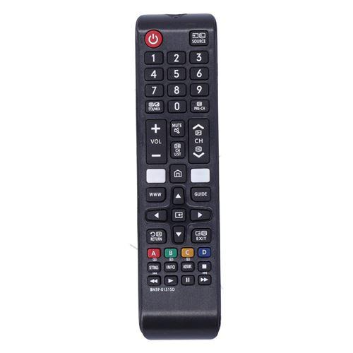 Télécommande TV N59-01315D pour Samsung UA43RU7100 / UA50RU7100 / UA55RU7100 / UA58RU7100