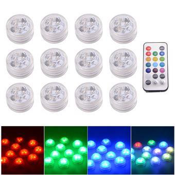 ed026b40581 -20% sur Lumières LED RGB MultiColores Submersibles étanches Fête de  Mariage Vase Base Lumière