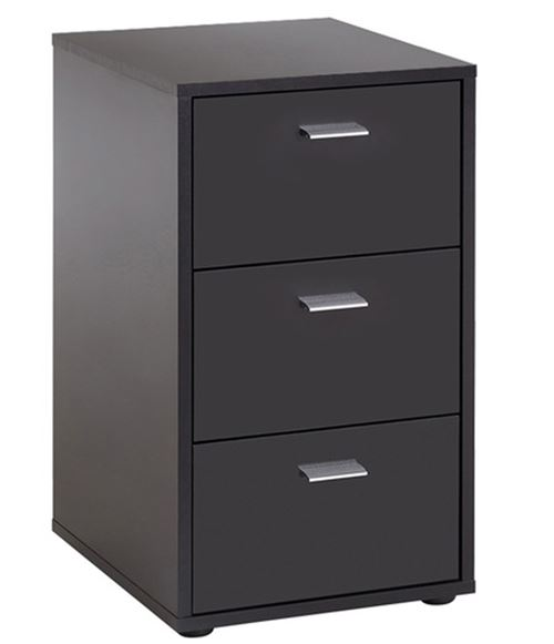Table de chevet / table de nuit en bois coloris noir - L.35 x H.62.4 x P.39.9 cm -PEGANE-
