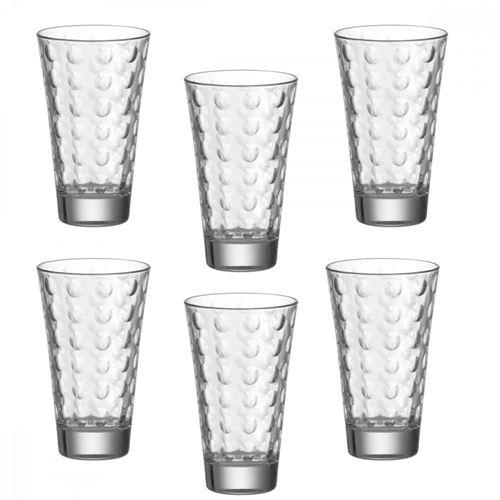Chope en verre soufflé 30 cl OPTIC - Coffret de 6