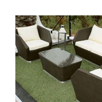 Salon Bas De Jardin Club Ecru En Resine Cigare Mobilier De Jardin