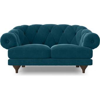 myfaktory canap 2 places style chesterfield nolan bleu fonc achat prix fnac. Black Bedroom Furniture Sets. Home Design Ideas