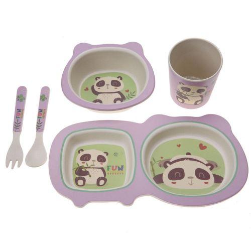 Set de repas enfant 5 pièces(Panda)