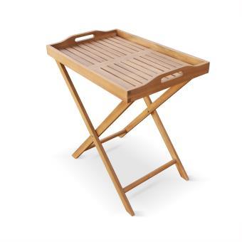desserte en bois toledo plateau amovible 68x44cm alice 39 s garden mobilier de jardin achat. Black Bedroom Furniture Sets. Home Design Ideas