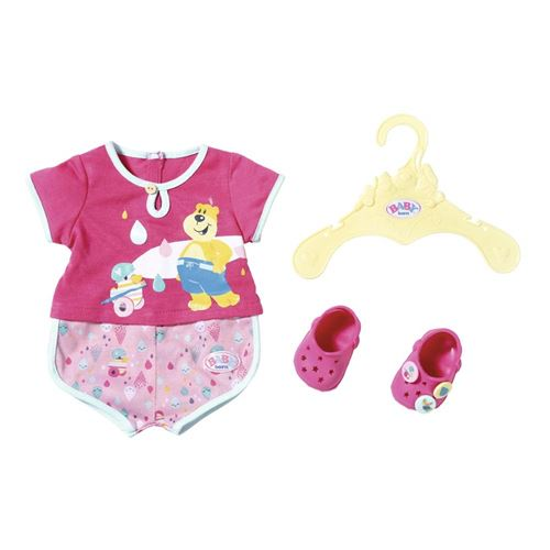 Zapf Creation 827437 Pyjama de bain avec chaussures pour poupée BABY born de 43 cm