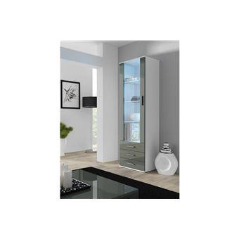 6458 sur chlo design meuble vitrine design sano blanc et gris achat prix fnac