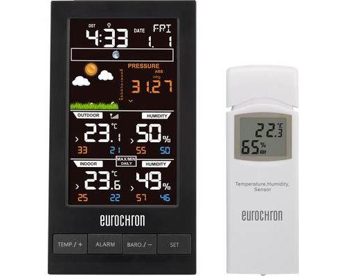 Eurochron Funk-wetterstation Efws S250 Vorhersage Pour 12 Jusque 24 Horaire