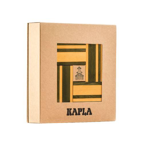 Kapla - Coffret couleur jaune / vert - 40 planchettes