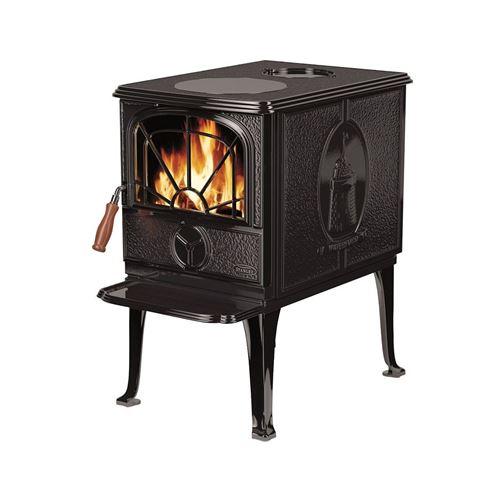 Falcon DUNMORE - Electric fireplace - au sol - noir émail