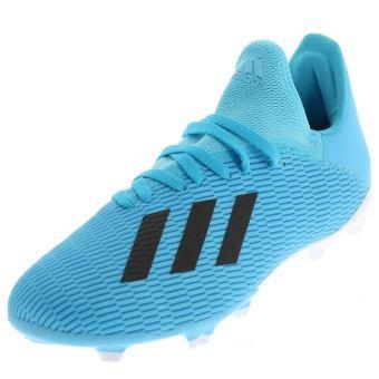 Chaussures football lamelles Adidas X 19.3 f jr Bleu taille : 36.5 ...