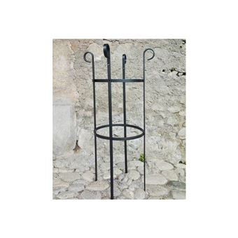 Extension pour Obélisque Rêves de Jardins Jardinière Porte Rosier Buis  Topiaire en Fer Forgé Gris Anthracite 40x40x100cm