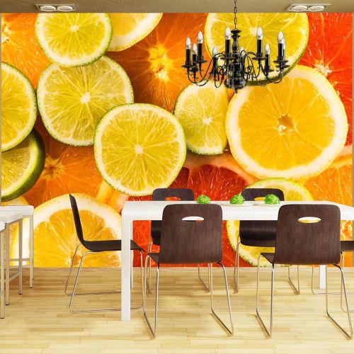Papier peint - Citrus fruits - Décoration, image, art - Motifs