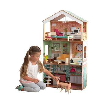 16 82 Sur Kidkraft Maison De Poupees En Bois Dottie 115cm Maison De Poupee Achat Prix Fnac