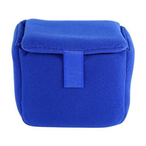 Sac rembourré anti-chocs et doublé avec crochet et boucle (bleu)