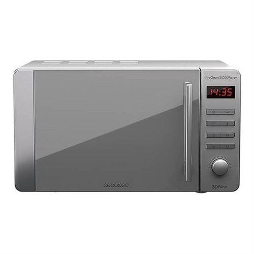 Cecotec ProClean 5020 Mirror - Four micro-ondes monofonction - pose libre - 20 litres - 700 Watt - acier inoxydable