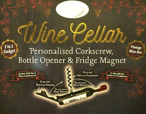 Ouvre-bouteilles de cave à vin - Aimants - Kirsty
