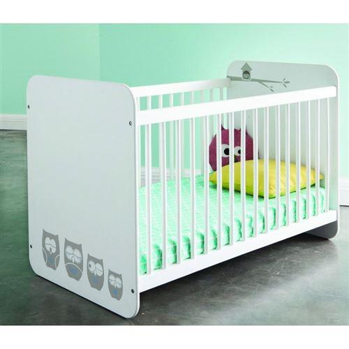 Lit bébé à barreaux Blanc