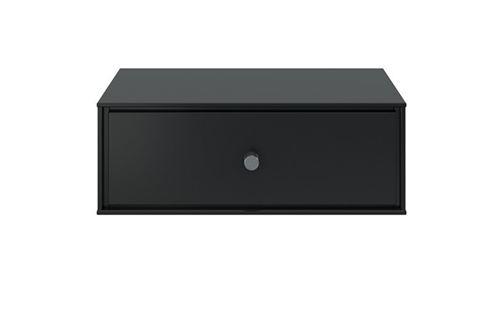 Table de chevet en MDF coloris café noir - 15 x 41.5 x 35 cm -PEGANE-