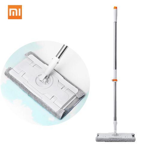 Xiaomi Mijia Jiezhi Balai Vadrouille Balai Libre Réglable 360 Rotatif Nettoyant 1.3m Tige De Nettoyage De Plancher Outil Pour La Maison De Famille