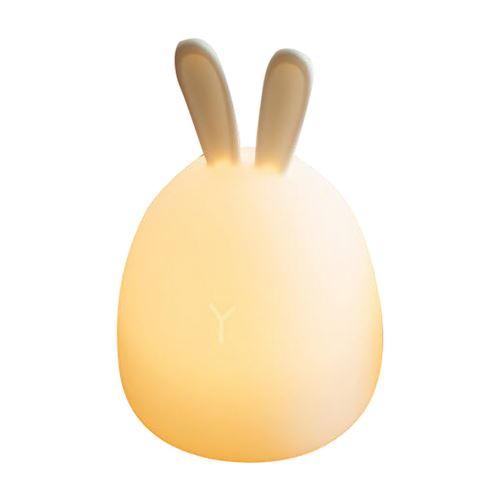 LED Lights Nuit pour Les Enfants, Bébé Silicone Animal Mignon avec Capteur Décoloration Blanc Pl838