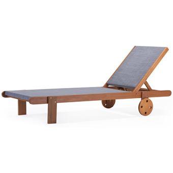 bain de soleil en bois exotique saïgon - maple - gris ...