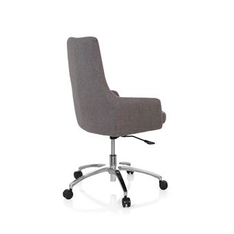 Chaise de bureau siège pivotant SHAKE 100 tissu gris foncé