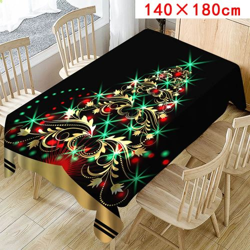 Nappe de Noël Imprimer Rectangle Table Cover Holiday Party Home Decor_Kiliaadk377