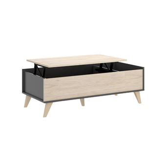 ColorisChêneAnthracite niche relevable 1 Table basse KOLYMA uXOiPkZ
