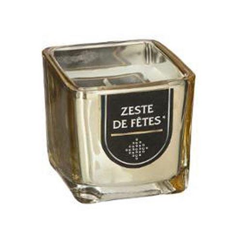 Bougie Parfumée Carrée Gold 5cm Zeste Fêtes