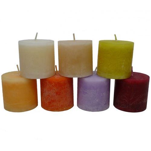 Bougie de Cire Parfumée Fruitée ou Florale Cylindrique pour Photophores ou à Poser 5x5x5cm