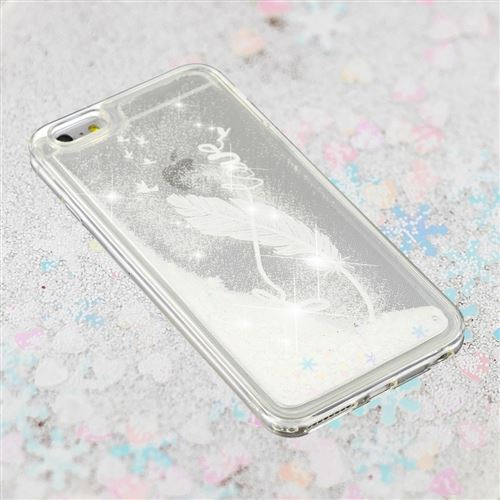 coque iphone 8 plume blanche