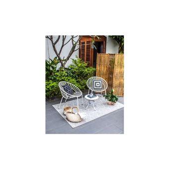 Opoa Salon De Jardin 2 Places - 2 Fauteuils Et Une Table ...