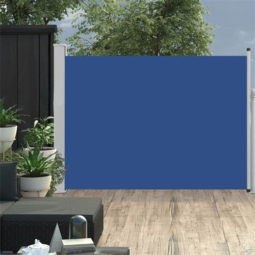 Auvent latéral rétractable de patio 120x500 cm Bleu