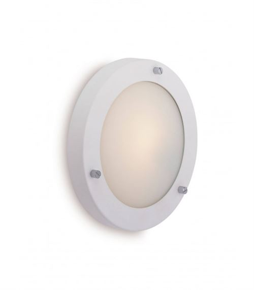 Applique / Plafonnier 40w Rondo, blanc
