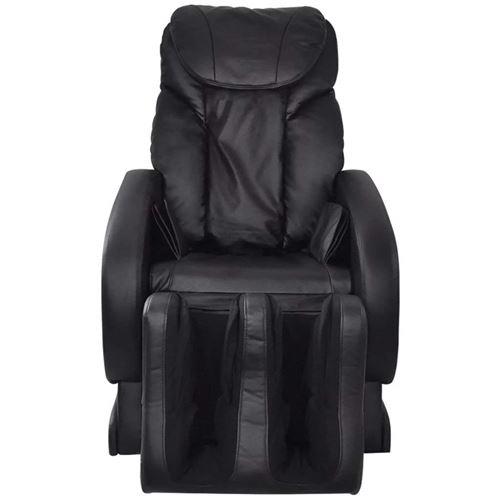 vidaXL Fauteuil de Massage Relaxation Electrique en Cuir Artificiel Noir
