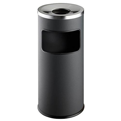 Durable 333258 corbeille haute ronde 17 litres avec cendrier à couvercle etouffoir hauteur 62 cm en métal peint coloris anthraci