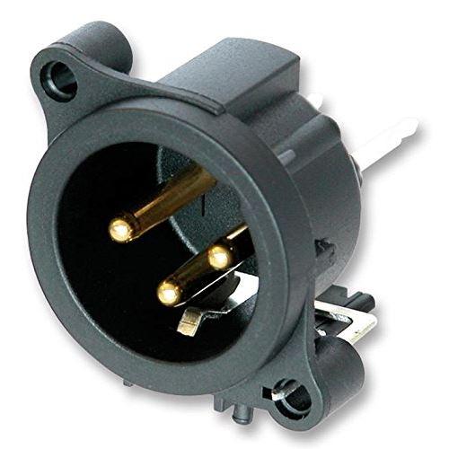 Xlr Plug, 3p, Pcb, Vert