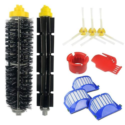 Kit d'accessoires pour iRobot Roomba Serie 585 595 600 605 610 616 620 625 630 631 632 639 650 651 680 681 691 696 [10 pièces] Hobby Tech
