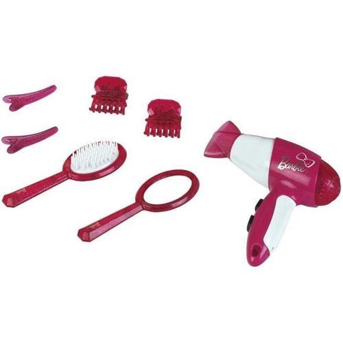 Klein set de coiffure avec sèche cheveux et accessoires 7 pièces rose