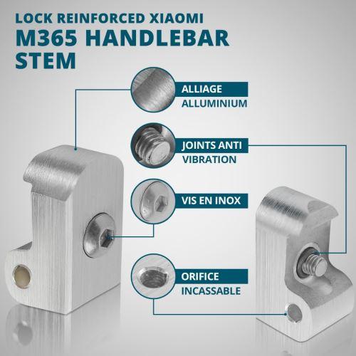 Lock Latch Renforc/é Potence de Guidon Xiaomi M365 Kit Lock+Goupille+Vis+Cl/é Allen+Amortisseur Accessoires de Trottinette /électrique Vestigia/® Serrure Securite Joint